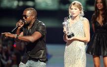 Kayne West interrupts Taylor Swift at VMA's